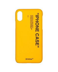 OFF-WHITE c/o Virgil Abloh MENS QUOTE IPHONE X COVER / 6010 : YELLOW BLACK