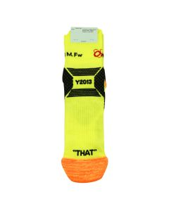 OFF-WHITE c/o Virgil Abloh MENS INDUSTRIAL Y013 ANKLE SOCKS / 6010 : YELLOW BLACK
