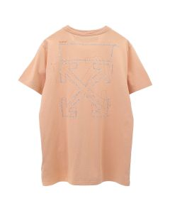 OFF-WHITE c/o Virgil Abloh WOMENS SHIFTED CARRYOVER CASUAL TEE / 2222 : SALMON SALMON
