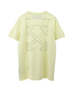 OFF-WHITE c/o Virgil Abloh WOMENS SHIFTED CARRYOVER CASUAL TEE / 6060 : YELLOW YELLOW