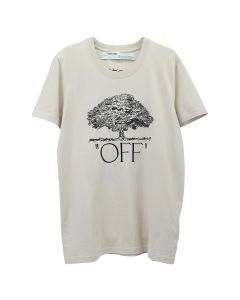 OFF-WHITE c/o Virgil Abloh WOMENS OFF TREE CASUAL TEE / 4810 : BEIGE BLACK