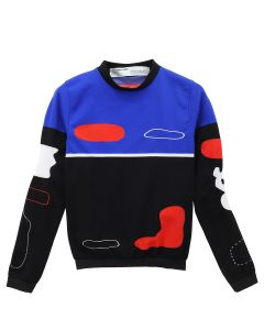 OFF-WHITE c/o Virgil Abloh WOMENS ORGANIC SHAPE L/S TOP / 8820 : MULTICOLOR RED