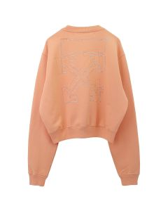 OFF-WHITE c/o Virgil Abloh WOMENS SHIFTED CARRYOVER CROP CRNECK / 2222 : SALMON SALMON
