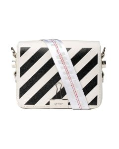 OFF-WHITE c/o Virgil Abloh WOMENS DIAG FLAP BAG / 0210 : OFF WHITE BLACK