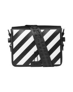OFF-WHITE c/o Virgil Abloh WOMENS DIAG FLAP BAG / 1001 : BLACK WHITE