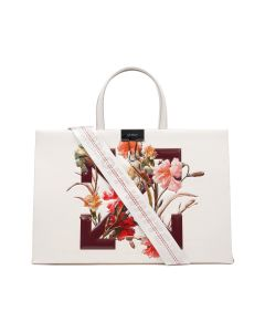 OFF-WHITE c/o Virgil Abloh WOMENS FLOWERS BOX BAG MEDIUM / 0224 : OFF WHITE BORDEAUX