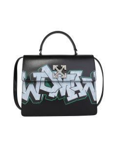 OFF-WHITE c/o Virgil Abloh WOMENS JITNEY 4.3 GRAFFITI / 1001 : BLACK WHITE