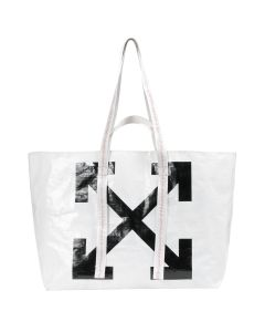 OFF-WHITE c/o Virgil Abloh WOMENS NEW COMMERCIAL TOTE / 0110 : WHITE BLACK