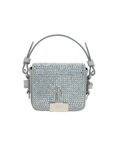 OFF-WHITE c/o Virgil Abloh WOMENS CRYSTAL BABY FLAP BAG / 9600 : CRYSTAL NO COLOR