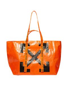 OFF-WHITE c/o Virgil Abloh WOMENS NEW COMMERCIAL TOTE / 1910 : ORANGE BLACK