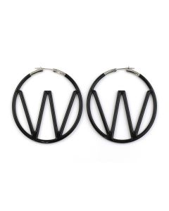 OFF-WHITE c/o Virgil Abloh WOMEN W EARRING / 1000 : BLACK NO COLOR