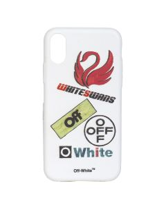 OFF-WHITE c/o Virgil Abloh WOMEN MULTILOGO IPHONE X / 0188 : WHITE MULTICOLOR