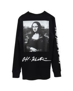 OFF-WHITE c/o Virgil Abloh MENS MONNALISA L/S TEE / 1020 : BLACK RED