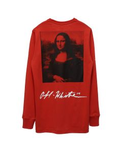 OFF-WHITE c/o Virgil Abloh MENS MONNALISA L/S TEE / 2010 : RED BLACK