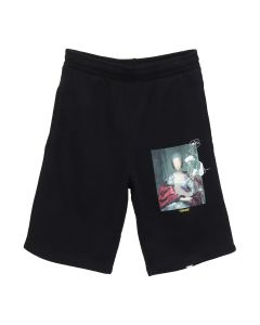 OFF-WHITE c/o Virgil Abloh MENS MARIANA DE SILVA SWEATSHORTS / 1088 : BLK MULTICOLOR