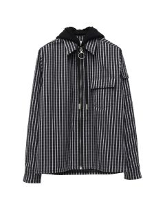 OFF-WHITE c/o Virgil Abloh MENS DIAG STRIPED HOODIE SHIRT / 1088 : BLACK MULTICOLOR