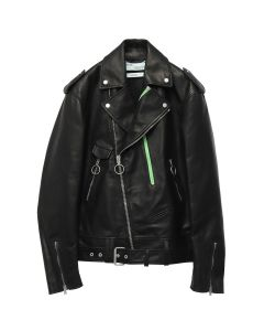 OFF-WHITE c/o Virgil Abloh MENS EXAGGERATED BIKER / 1088 : BLACK MULTICOLOR