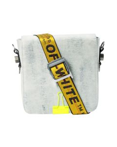 OFF-WHITE c/o Virgil Abloh MENS DENIM BINDERCLIP BAG / 1400 : EXTREME BLEACH