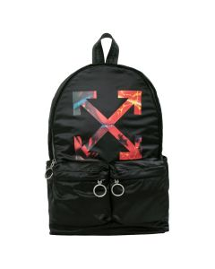 OFF-WHITE c/o Virgil Abloh MENS ARROW BACKPACK / 1088 : BLACK MULTICOLOR