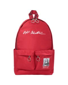 OFF-WHITE c/o Virgil Abloh MENS MONNALISA BACKPACK / 2010 : RED BLACK