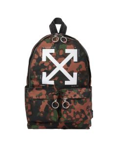 OFF-WHITE c/o Virgil Abloh MENS CAMOU ARROW BACKPACK / 9901 : ALL OVER WHITE