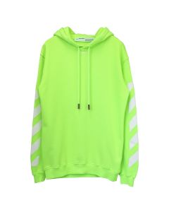 OFF-WHITE c/o Virgil Abloh WOMENS DIAG CARRYOVER LONG HOODIE / 6262 : FLUO YELLOW FLUO YELLOW