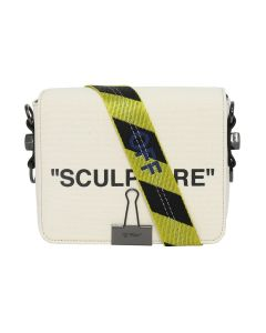 OFF-WHITE c/o Virgil Abloh WOMENS CANVAS FLAP BAG / 4810 : BEIGE BLACK