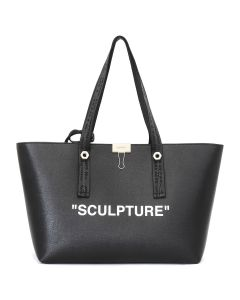 OFF-WHITE c/o Virgil Abloh WOMENS SCULPTURE SHOPPING BAG / 1001 : BLACK WHITE