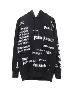 Palm Angels ULTRA LOGO OVER HOODIE / 1001 : BLACK WHITE