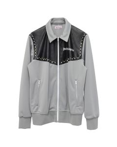 Palm Angels MIX LEATHER TRACK JKT / 0691 : LIGHT GREY SILVER