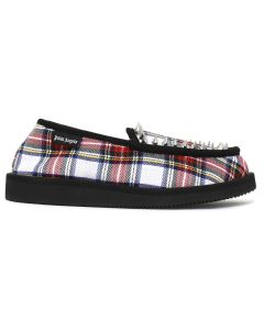 Palm Angels SUICOKE LOAFER TARTAN / 0199 : WHITE ALL OVER