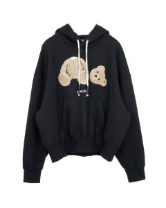 Palm Angels KILL THE BEAR CROPPED HOODY / 1088 : BLACK MULTICOLOR
