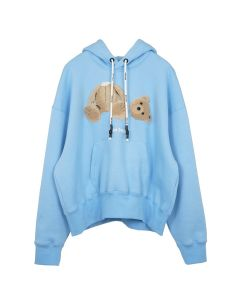 Palm Angels KILL THE BEAR CROPPED HOODY / 3188 : LIGHT BLUE MULTI