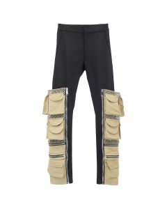 Palm Angels PANELS CHINO PANTS / 1088 : BLACK MULTICOLOR