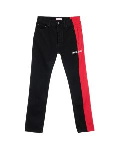 Palm Angels 3/4 TRACK DENIM / 7620 : BLACK WASH RED