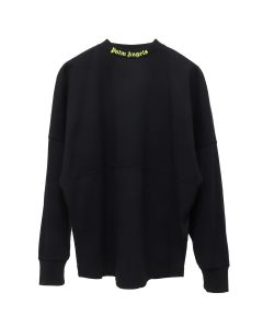Palm Angels LOGO OVER TEE LS / 1062:BLACK FLUO YELLOW