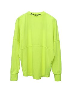 Palm Angels LOGO OVER TEE LS / 6210:FLUO YELLOW BLACK