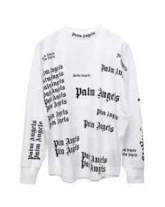 Palm Angels ULTRA LOGO OVER TEE L/S / 0110:WHITE BLACK