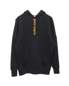 Palm Angels 3 COLORS LOGO OVER HOODY / 1019:BLACK PRISON ORANGE
