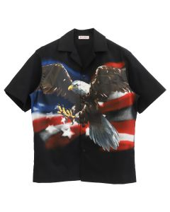 Palm Angels EAGLE BOWLING SHIRT / 1088 : BLK MULTICOLOR