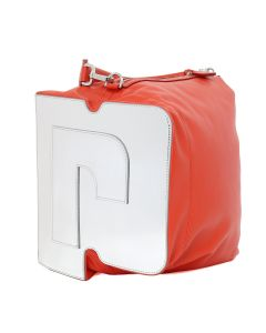 Paco Rabanne PR HOBO BAG MEDIUM MODEL / 630 : RED-SILVER