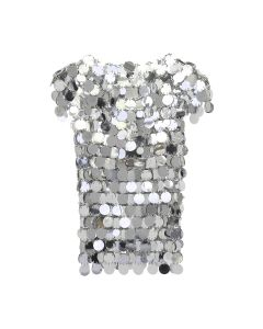 Paco Rabanne TOP SHORT SLEEVES / 040 : SILVER