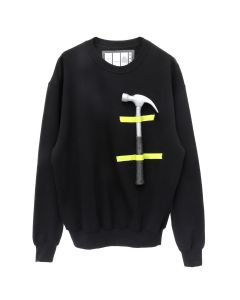 Rottingdean Bazaar CAST FOAM HAMMER SWEATSHIRT / BLACK