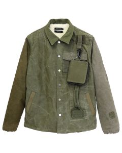 REESE COOPER RECONSTRUCTED VINTAGE MILITARY COACHES JACKET 1 / KHAKI