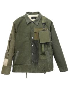 REESE COOPER RECONSTRUCTED VINTAGE MILITARY COACHES JACKET 2 / KHAKI