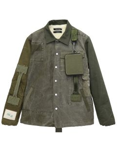 REESE COOPER RECONSTRUCTED VINTAGE MILITARY COACHES JACKET 3 / KHAKI