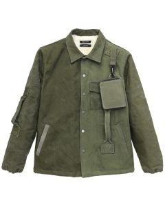 REESE COOPER RECONSTRUCTED VINTAGE MILITARY COACHES JACKET 4 / KHAKI