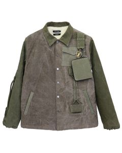 REESE COOPER RECONSTRUCTED VINTAGE MILITARY COACHES JACKET 5 / KHAKI