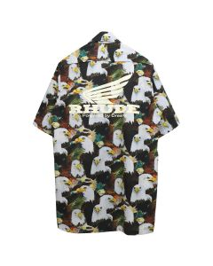 "RHUDE TRUCK STOP ""AMERICAN EAGLE"" SHIRT / BROWN"