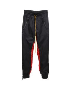 RHUDE NYLON PANTS / BLACK-RED